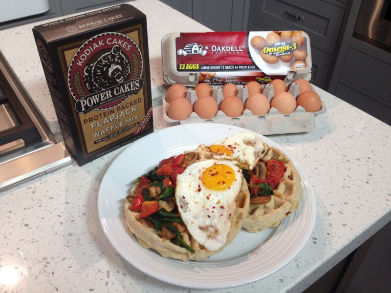 Oakdell Eggs on Kodiak Cakes Waffles