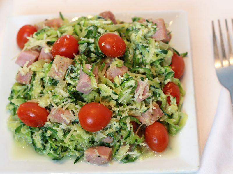 Nutritious Zoodles Carbonara