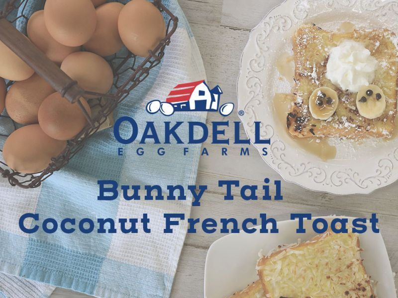 Bunny Tail Coconut Crusted French Toast