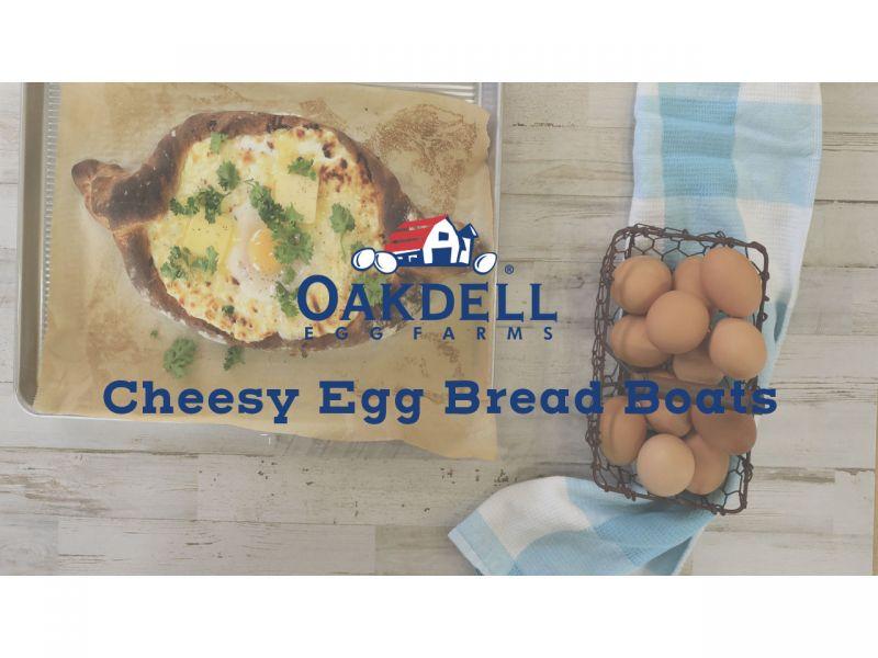 Cheesy Egg and Bread Boats
