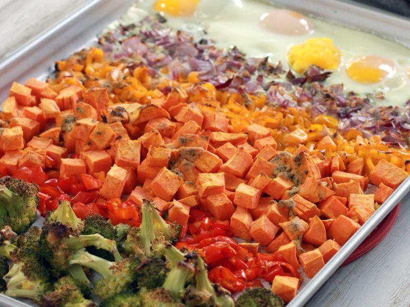 Rainbow Veggies & Eggs