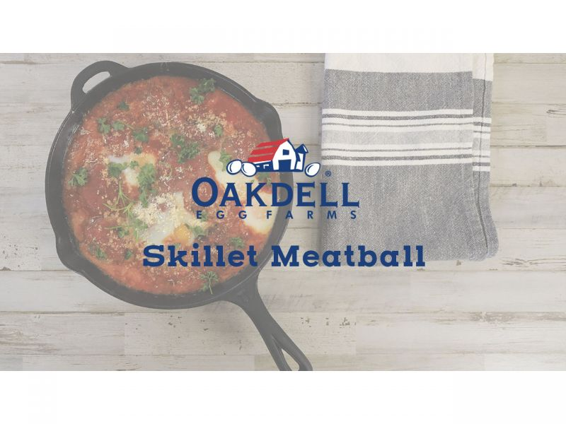 Skillet Meatball and Eggs