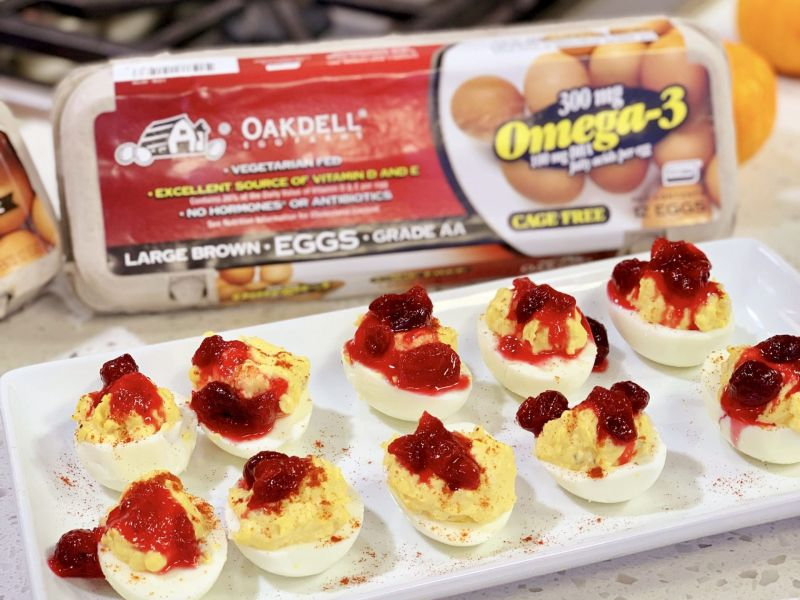 Cranberry Deviled Eggs